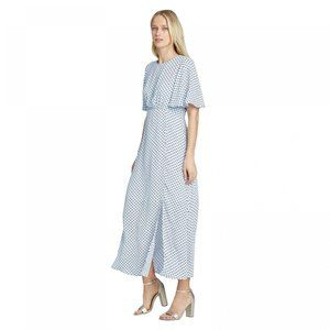 NWT Who What Wear Paneled Maxi Dress Small Blue